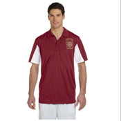 Harriton Men's  Side Blocked Micro-Pique Polo