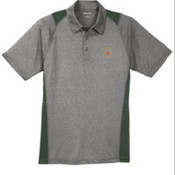 Sport-Tek Heather Colorblock Contender Polo