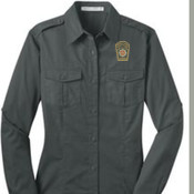 Port Authority Ladies Stain-Resistant Roll Sleeve Twill Shirt